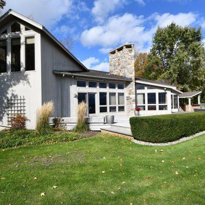Residential Architect Adirondacks Marc Camens Rear Elevation Wide