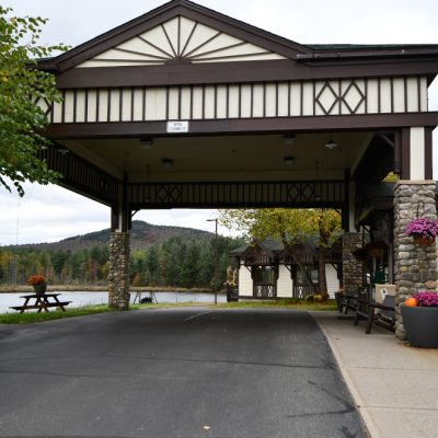 Camens Commercial Architecture Firms In Adirondacks Golf Clubhouse Driveway