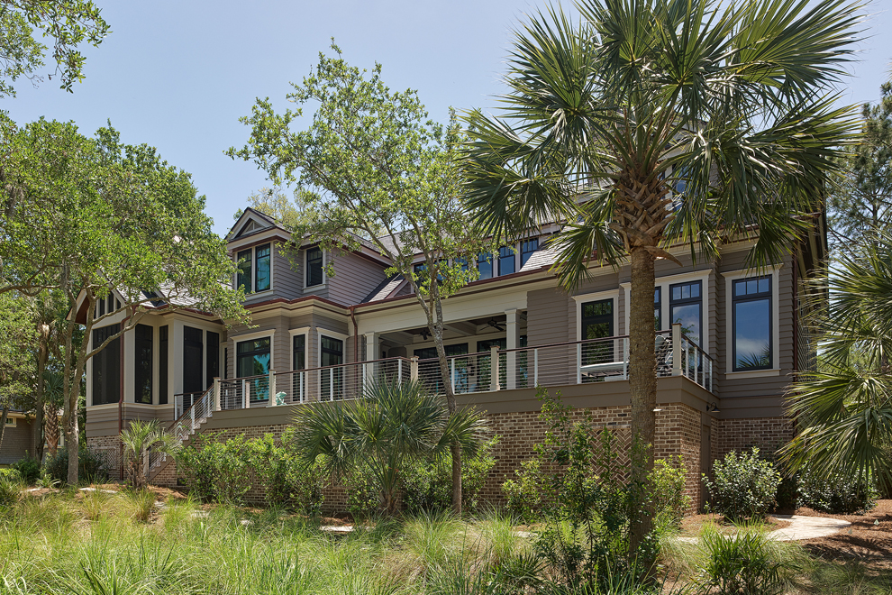 Marc Camens Chief Architect Kiawah Island 173 High Dunes Lane Rear Elevation